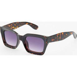 Okulary przeciwsłoneczne - Brązowy. Brązowe okulary przeciwsłoneczne damskie marki Reserved. Za 39,99 zł.
