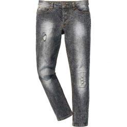 """Dżinsy ze stretchem Skinny bonprix czarny """"moon"""". Czarne jeansy męskie regular marki bonprix, z jeansu. Za 79,99 zł."""