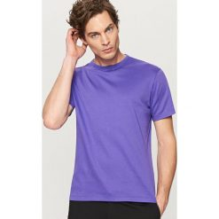 Odzież męska: Jednolity t-shirt – Fioletowy
