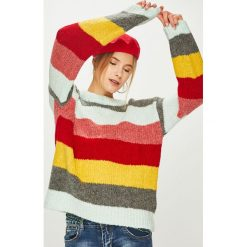 Answear - Sweter. Szare swetry klasyczne damskie ANSWEAR, l, z dzianiny, z okrągłym kołnierzem. Za 119,90 zł.