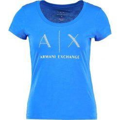 Odzież damska: Armani Exchange Tshirt z nadrukiem victoria blue