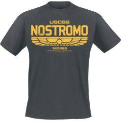 T-shirty męskie z nadrukiem: Alien Nostromo Logo T-Shirt szary