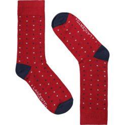 Skarpety Czerwone. Czerwone skarpetki męskie LANCERTO, w kolorowe wzory, z bawełny. Za 29,90 zł.