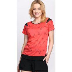Czerwony T-shirt Suit & Tie. Czerwone bluzki damskie Born2be, l. Za 9,99 zł.