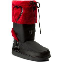 Śniegowce LOVE MOSCHINO - JA24232G04JK200B Rosso. Czarne buty zimowe damskie Love Moschino, z materiału. W wyprzedaży za 389,00 zł.