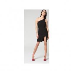 Mosali - Sukienka na Jedno Ramię M035. Czarne sukienki na komunię marki Mosali, l, dopasowane. Za 149,00 zł.
