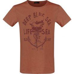 T-shirty męskie: Urban Surface Old Ship T-Shirt odcienie czerwonego
