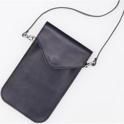 Skórzana mini torebka ReDesign - Czarny. Czarne torebki klasyczne damskie Reserved. Za 199,99 zł.
