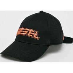 Diesel - Czapka. Czarne czapki z daszkiem męskie Diesel, z bawełny. Za 269,90 zł.