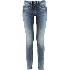 GStar LYNN DMID ZIP ANKLE SUPER SKINNY WMN Jeans Skinny Fit medium aged071. Niebieskie jeansy damskie relaxed fit marki G-Star, z bawełny. Za 469,00 zł.
