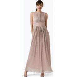 Sukienki hiszpanki: Swing - Damska sukienka wieczorowa, złoty