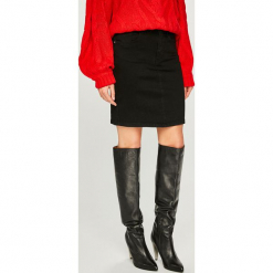 Answear - Spódnica. Czarne długie spódnice ANSWEAR, l, z bawełny, proste. Za 119,90 zł.