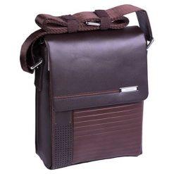 Torebki klasyczne damskie: Skórzana torba w kolorze brązowym – (S)20 x (W)25 x (G)10 cm
