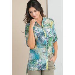Bluzki asymetryczne: Bluzka z tropikalnym motywem