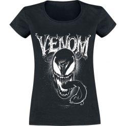Venom (Marvel) We Are Venom Koszulka damska czarny. Czarne bluzki z odkrytymi ramionami marki Born2be, s, z motywem z bajki, z dekoltem na plecach, z długim rękawem. Za 79,90 zł.
