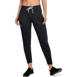 Spodnie sportowe damskie: Under Armour Spodnie damskie Slim Leg Rib Cuff Jogger czarne r. M (1320607-001)