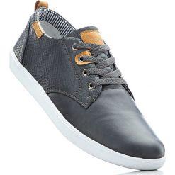 Buty sznurowane bonprix szary. Szare buty skate męskie bonprix, z materiału, na sznurówki. Za 79,99 zł.