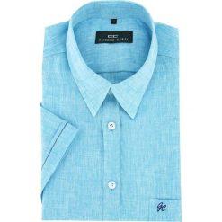 Koszula FABIO 16-01-19-K. Brązowe koszule męskie na spinki marki QUECHUA, m, z elastanu, z krótkim rękawem. Za 199,00 zł.