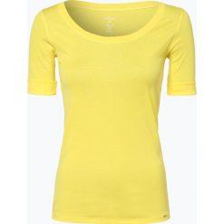 Marc Cain Collections - T-shirt damski, żółty. Żółte t-shirty damskie Marc Cain Collections, z dżerseju, z okrągłym kołnierzem. Za 399,95 zł.