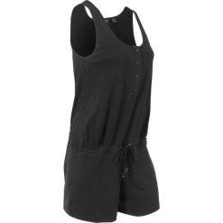 Kombinezony damskie: Kombinezon shirtowy bonprix czarny