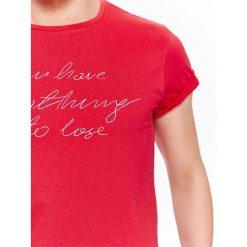T-shirty męskie: T-SHIRT MĘSKI Z NAPISEM