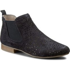 Sztyblety CAPRICE - 9-25300-28 Ocean Suede 857. Niebieskie buty zimowe damskie Caprice, z gumy, na obcasie. W wyprzedaży za 169,00 zł.