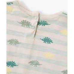 Mango Kids - T-shirt dziecięcy Duran 80-104 cm. Szare t-shirty chłopięce marki Mango Kids, z bawełny, z okrągłym kołnierzem. W wyprzedaży za 19,90 zł.