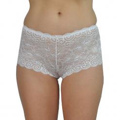 """Figi """"Glora"""" w kolorze białym. Białe figi marki Mare, m, w koronkowe wzory, z koronki. W wyprzedaży za 68,95 zł."""