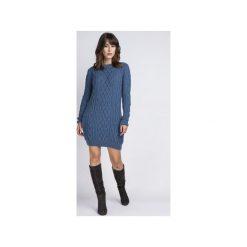 Tunika z kieszeniami, SWE090 morski MKM. Niebieskie tuniki damskie z długim rękawem Mkm swetry, l, z dzianiny. Za 143,00 zł.