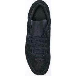 Reebok Classic - Buty Cl Lthr Woven Emb. Czarne buty sportowe damskie reebok classic Reebok Classic, z gumy. W wyprzedaży za 249,90 zł.