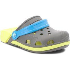 Klapki CROCS - Electro III Clog K 204991 Slate Grey/Tennis Ball Green. Szare sandały chłopięce Crocs, z tworzywa sztucznego. Za 129,00 zł.