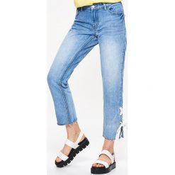 Spodnie damskie: Jeansy cigarette fit - Niebieski