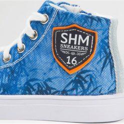 Tenisówki męskie: Shoesme Tenisówki i Trampki wysokie blue hawai