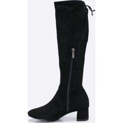 Tamaris - Kozaki. Brązowe buty zimowe damskie marki Tamaris, z materiału, z okrągłym noskiem. W wyprzedaży za 179,90 zł.