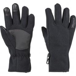 """Rękawiczki """"Connect Windproof"""" w kolorze czarnym. Czarne rękawiczki damskie Marmot, z materiału. W wyprzedaży za 86,95 zł."""