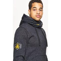 Sweter o kroju bluzy - Czarny. Szare swetry klasyczne męskie marki bonprix, l, melanż. Za 119,99 zł.