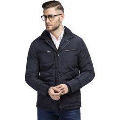 Kurtka TIZIANO KUGS000085. Czarne kurtki męskie zimowe marki Giacomo Conti, m, z bawełny, z klasycznym kołnierzykiem. Za 499,00 zł.