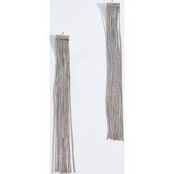 Kolczyki damskie: Długie kolczyki - Srebrny