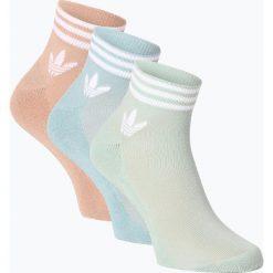 Adidas Originals - Skarpety damskie pakowane po 3 szt., szary. Szare skarpetki damskie adidas Originals, w paski. Za 49,95 zł.