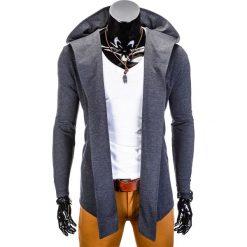 Bluzy męskie: BLUZA MĘSKA Z KAPTUREM NARZUTKA B702 - GRAFITOWA