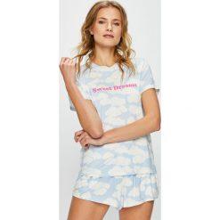 Undiz - Top piżamowy. Szare piżamy damskie marki Undiz, l, z nadrukiem, z dzianiny. W wyprzedaży za 49,90 zł.