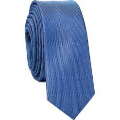 Krawat KWNS001663. Niebieskie krawaty męskie Giacomo Conti, z mikrofibry. Za 69,00 zł.