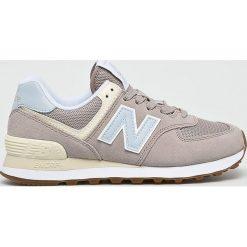 New Balance - Buty WL574FLC. Szare buty sportowe damskie marki New Balance, z gumy. W wyprzedaży za 279,90 zł.