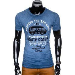 T-SHIRT MĘSKI Z NADRUKIEM S890 - GRANATOWY. Szare t-shirty męskie z nadrukiem marki Lacoste, z gumy, na sznurówki, thinsulate. Za 39,00 zł.