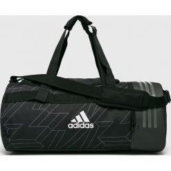 Adidas Performance - Torba. Czarne torebki klasyczne damskie adidas Performance, w paski, z materiału. Za 179,90 zł.