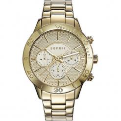 Zegarek kwarcowy w kolorze złotym. Żółte, analogowe zegarki damskie Esprit Watches, ze stali. W wyprzedaży za 318,95 zł.