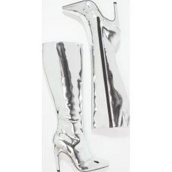 Topshop BLADE Kozaki na obcasie silver. Szare buty zimowe damskie marki Topshop, z materiału, na obcasie. W wyprzedaży za 367,20 zł.