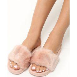 Klapki damskie: Różowe Klapki Fluff