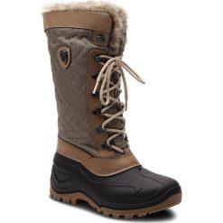 Śniegowce CMP - Nietos Wmn 3Q47966 Toffe Mel. Q835. Brązowe buty zimowe damskie CMP, z materiału. Za 299,99 zł.