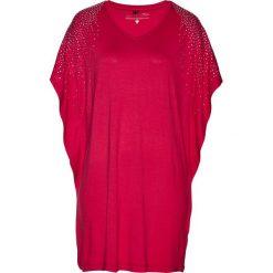 Tuniki damskie: Tunika shirtowa bonprix czerwień granatu